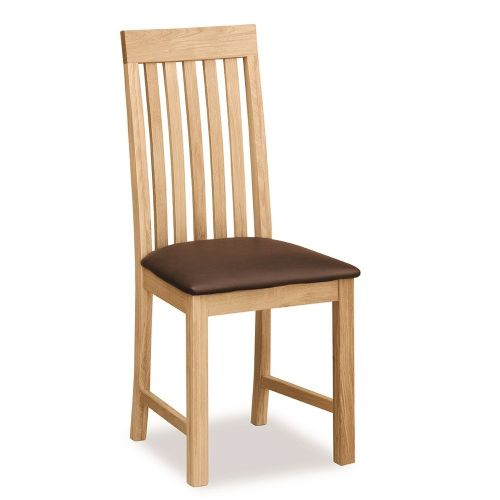 Marton Vertical Slat Chair Brown Pu